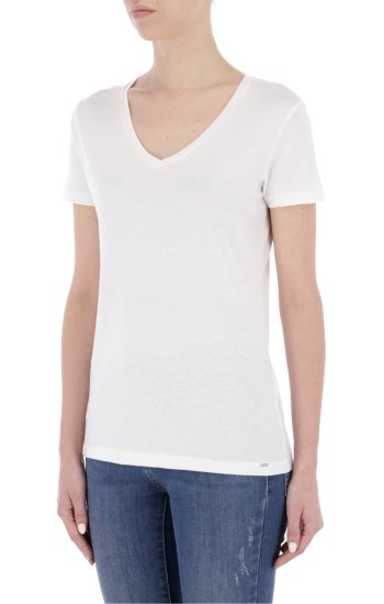T-shirt HANIKA V | Regular Fit Gas biały