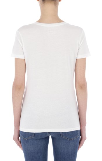 T-shirt HANIKA V   Regular Fit Gas biały