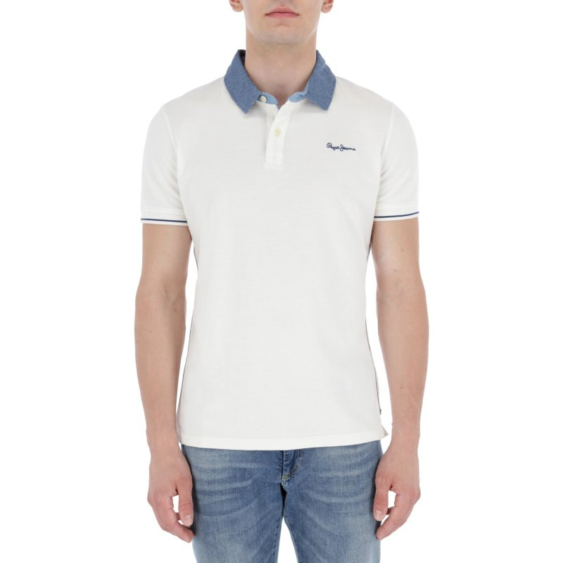 Polo MORRIS | Slim Fit | pique Pepe Jeans London biały
