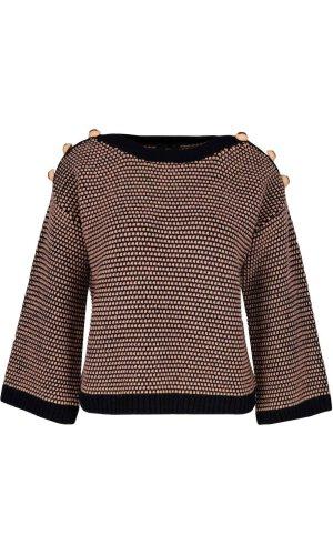 Elisabetta Franchi Sweter   Regular Fit   z dodatkiem wełny i kaszmiru