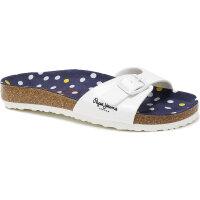 Bio Basic Slides Pepe Jeans London white