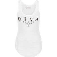 Top Diva Guess Guess Jeans biały
