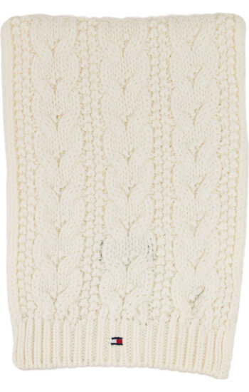 Szalik Solid Mini Tommy Hilfiger biały