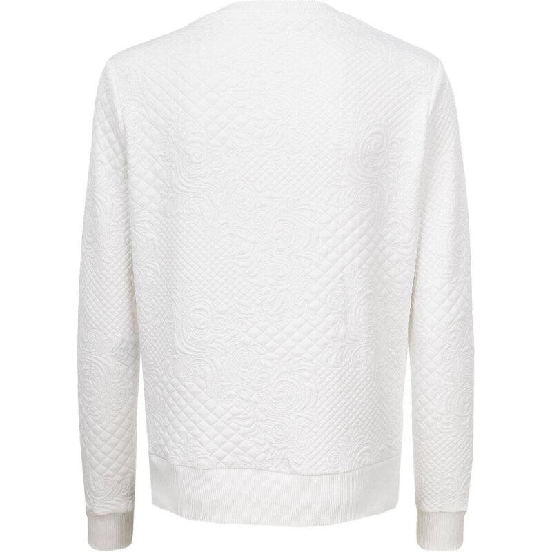 CLOUDS JACQUARD sweatshirt Guess Jeans white