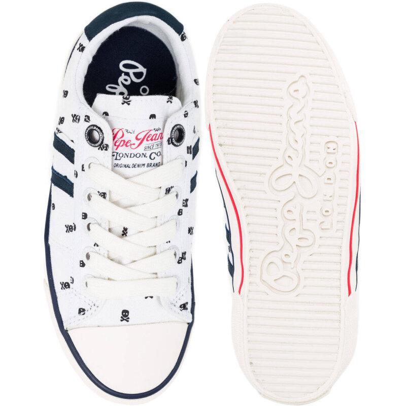 Tenisówki Serthi Skull Pepe Jeans London biały
