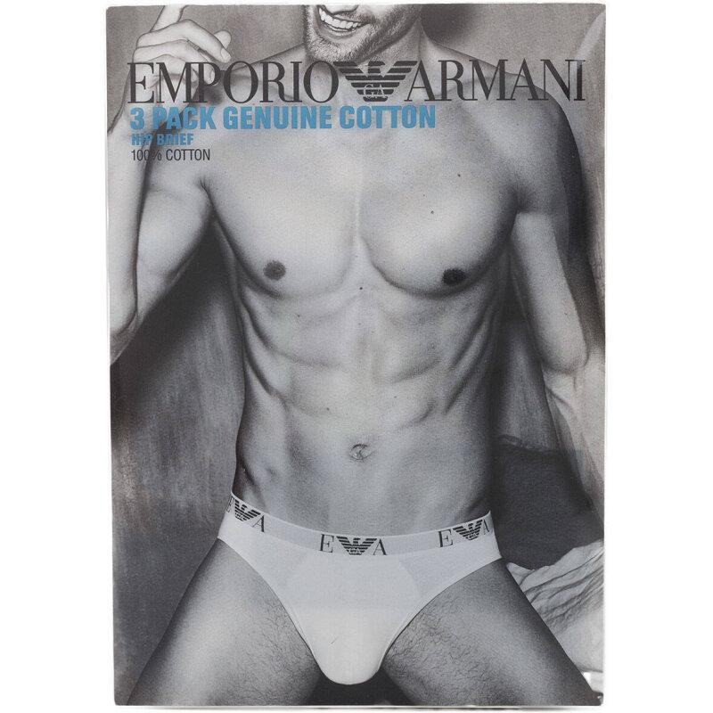 Slipy 3-pack Emporio Armani biały