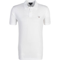 Polo Solid Pique SS Rugger Gant biały