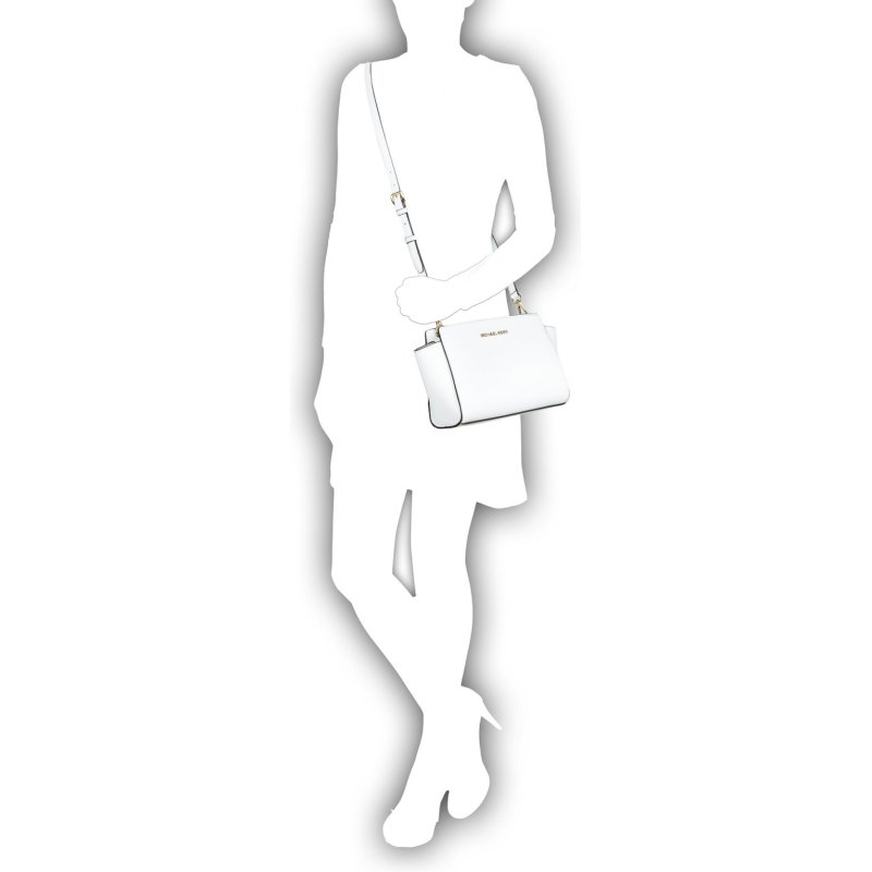 Listonoszka Selma Michael Kors biały