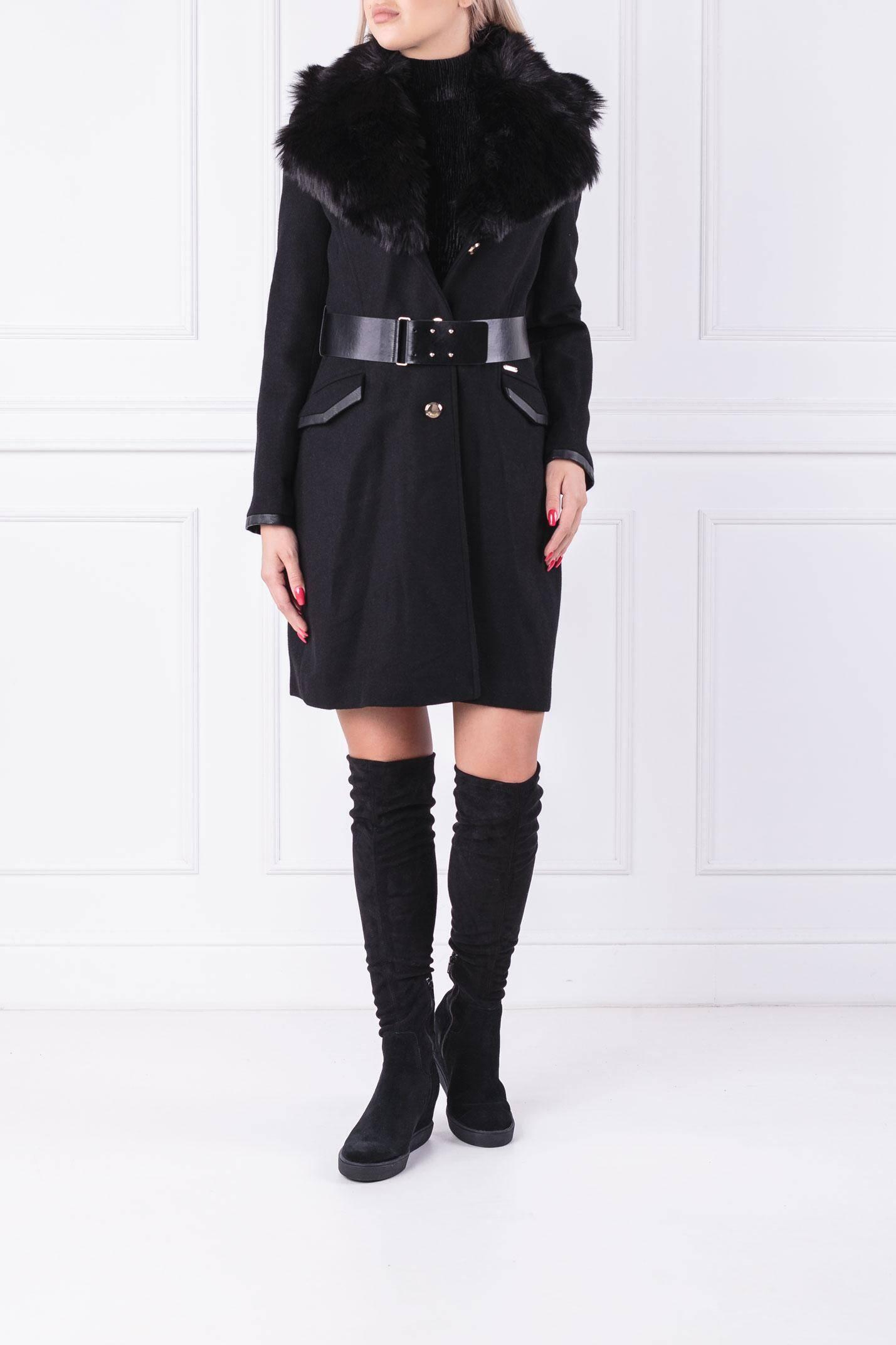 Coat Rosemary Guess Jeans Black Gomez Pl En
