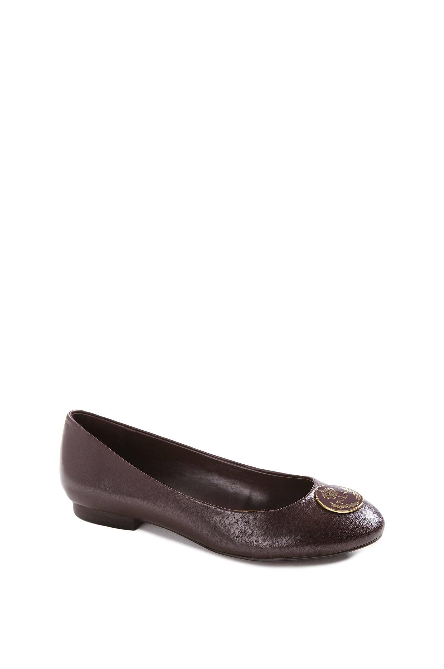 averie ballet flats lauren ralph lauren brown shoes. Black Bedroom Furniture Sets. Home Design Ideas