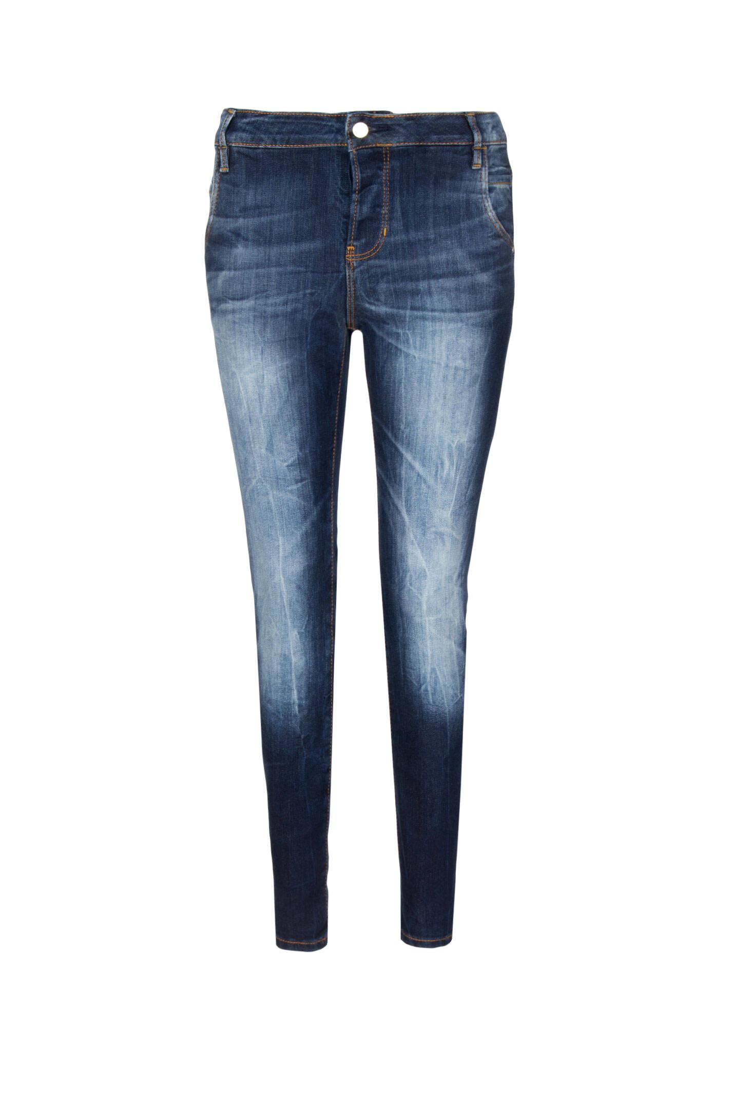 Jeansy Skinny Boyfriend Guess Jeans | Granatowy | Gomez.pl