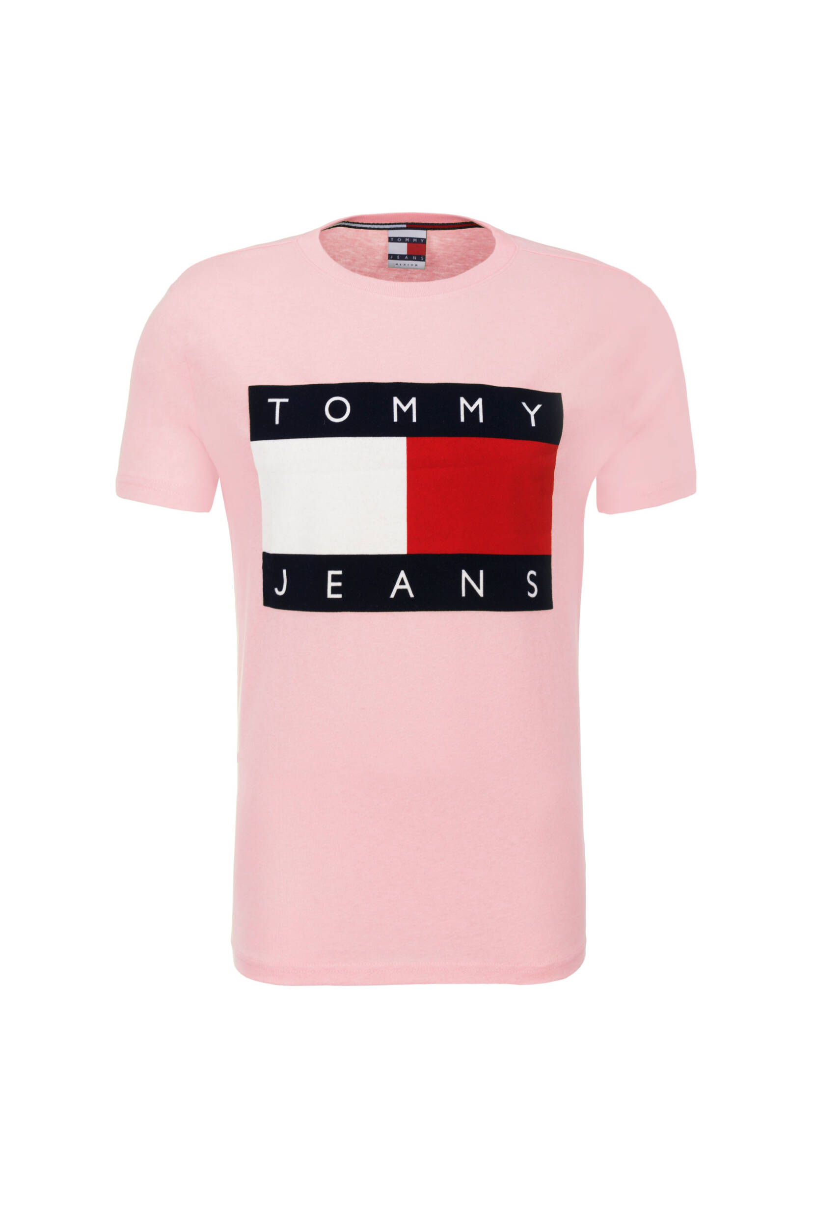 tommy jeans 90s t shirt hilfiger denim pink. Black Bedroom Furniture Sets. Home Design Ideas