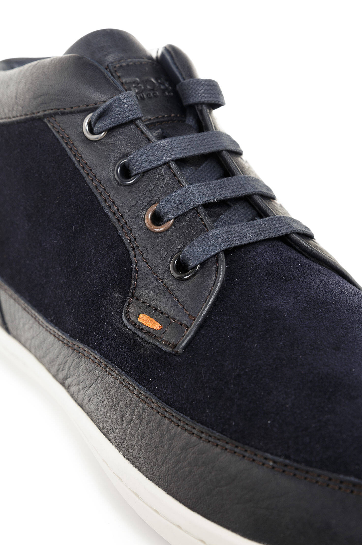 soundcarrel sneakers boss orange navy blue sneakers. Black Bedroom Furniture Sets. Home Design Ideas