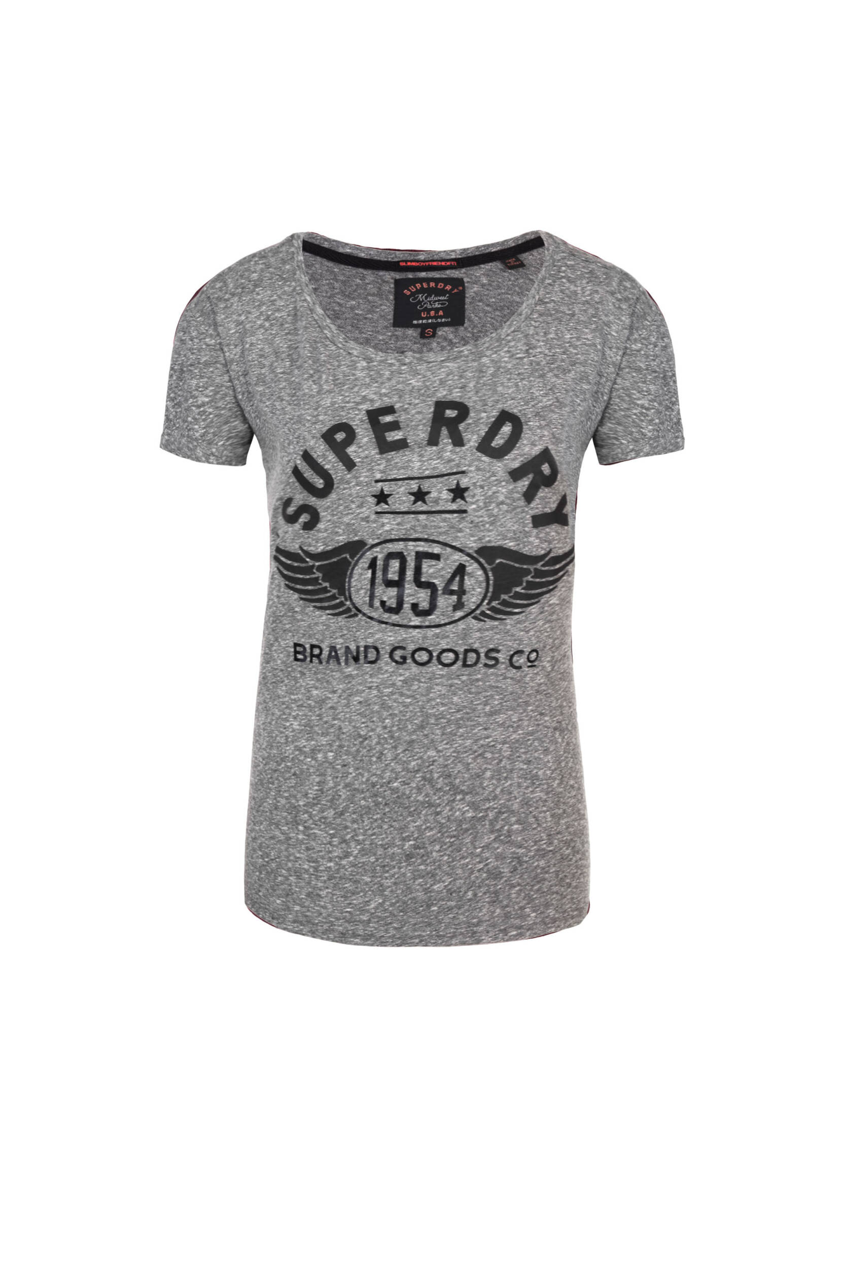 1954 brand good t shirt superdry gray for Successful t shirt brands