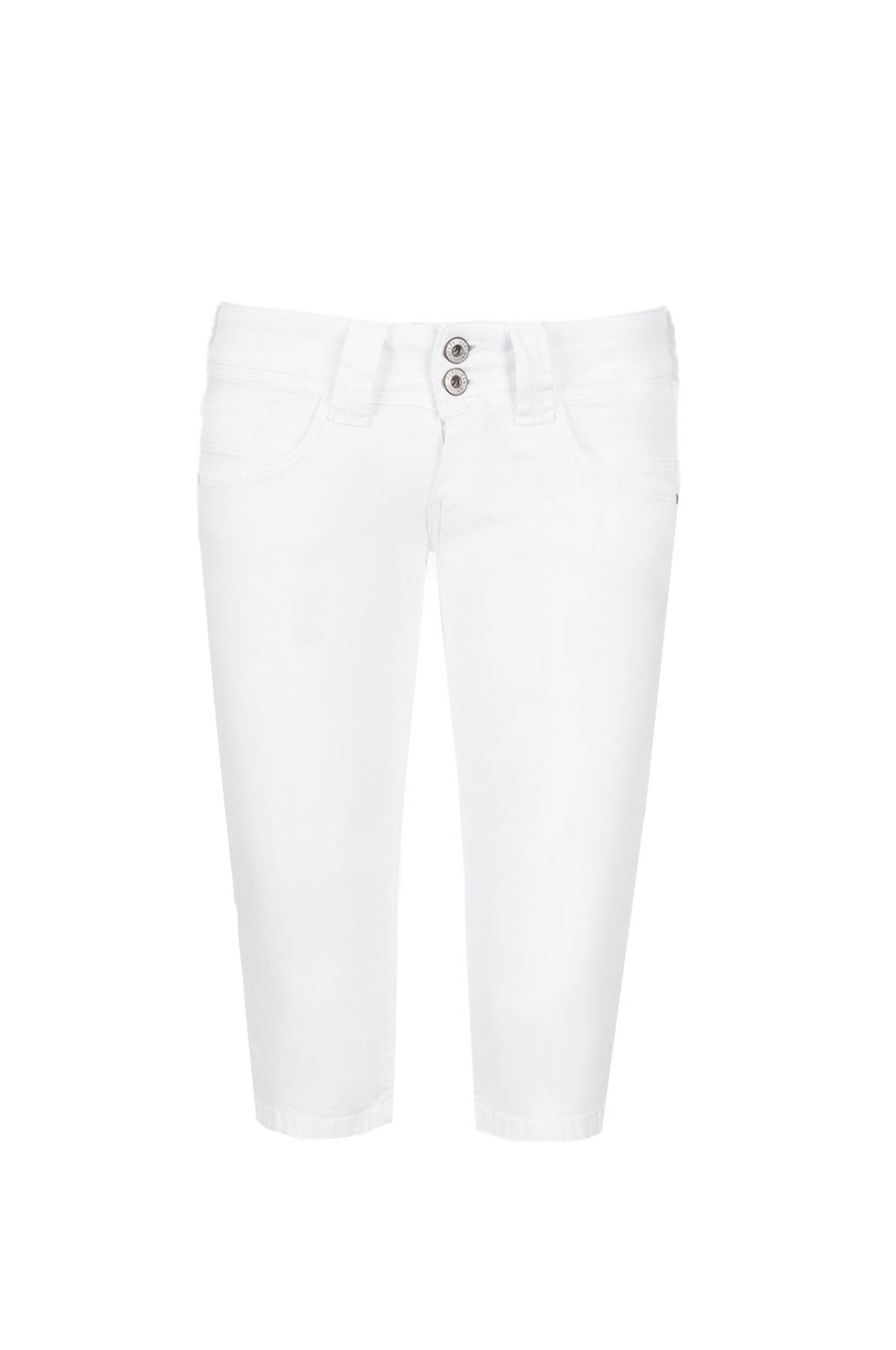 venus crop shorts pepe jeans london white shorts. Black Bedroom Furniture Sets. Home Design Ideas