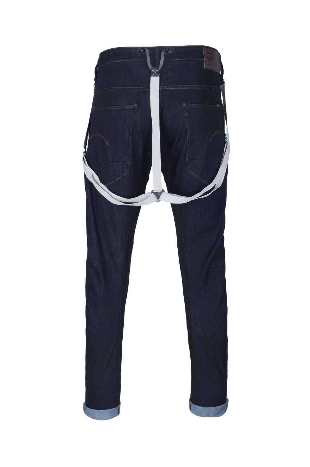 arc 3d slim braces jeans g star raw navy blue jeans. Black Bedroom Furniture Sets. Home Design Ideas