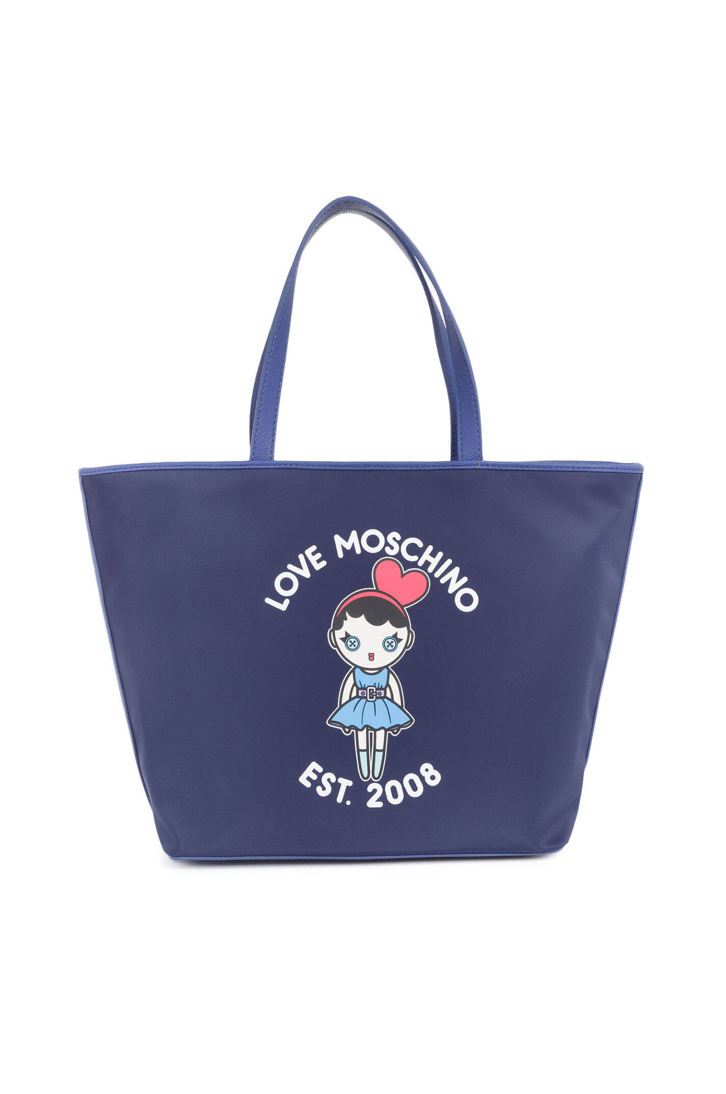 shopper bag love moschino navy blue bags. Black Bedroom Furniture Sets. Home Design Ideas