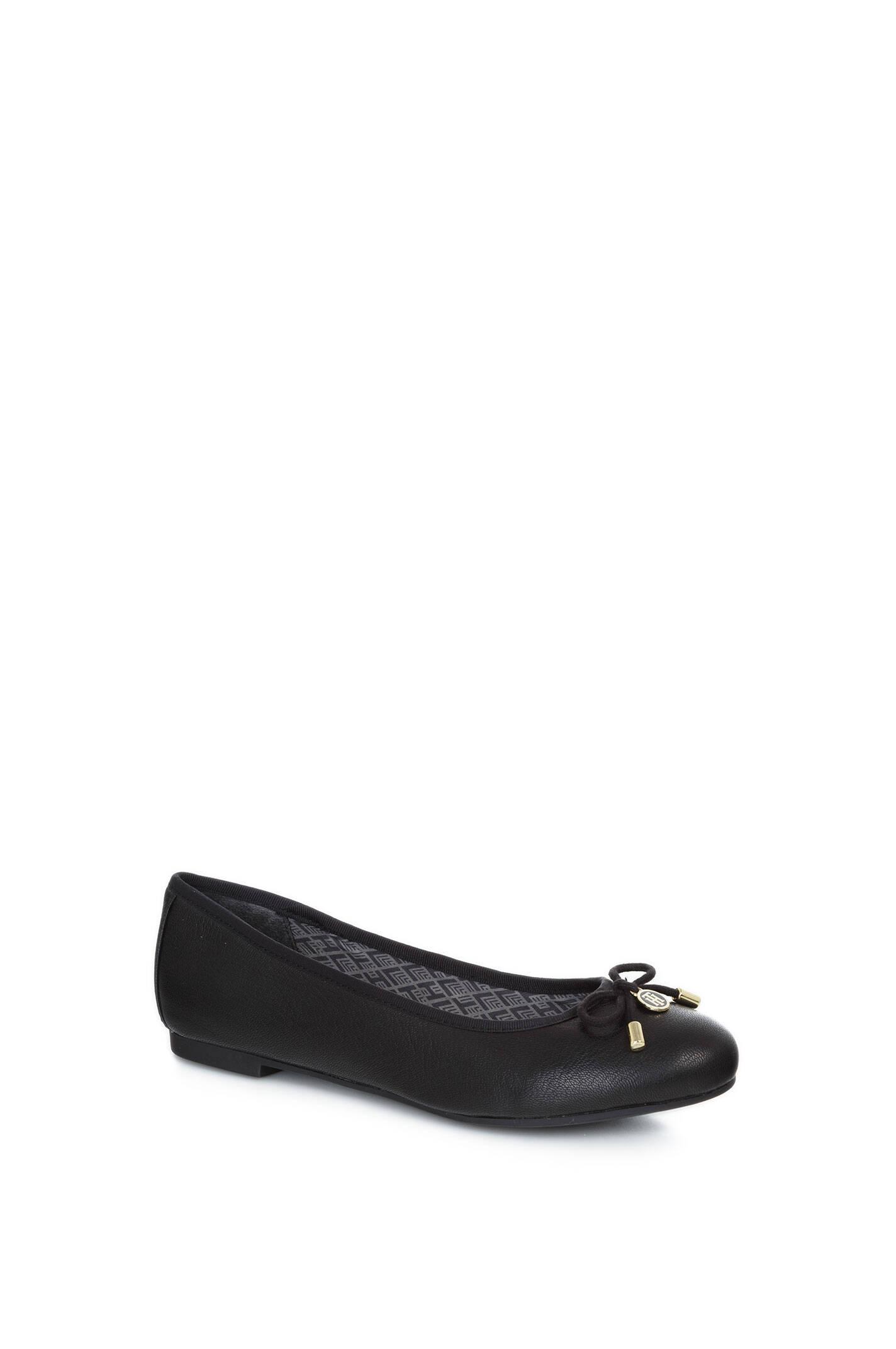 amy 54a ballerinas tommy hilfiger black shoes. Black Bedroom Furniture Sets. Home Design Ideas