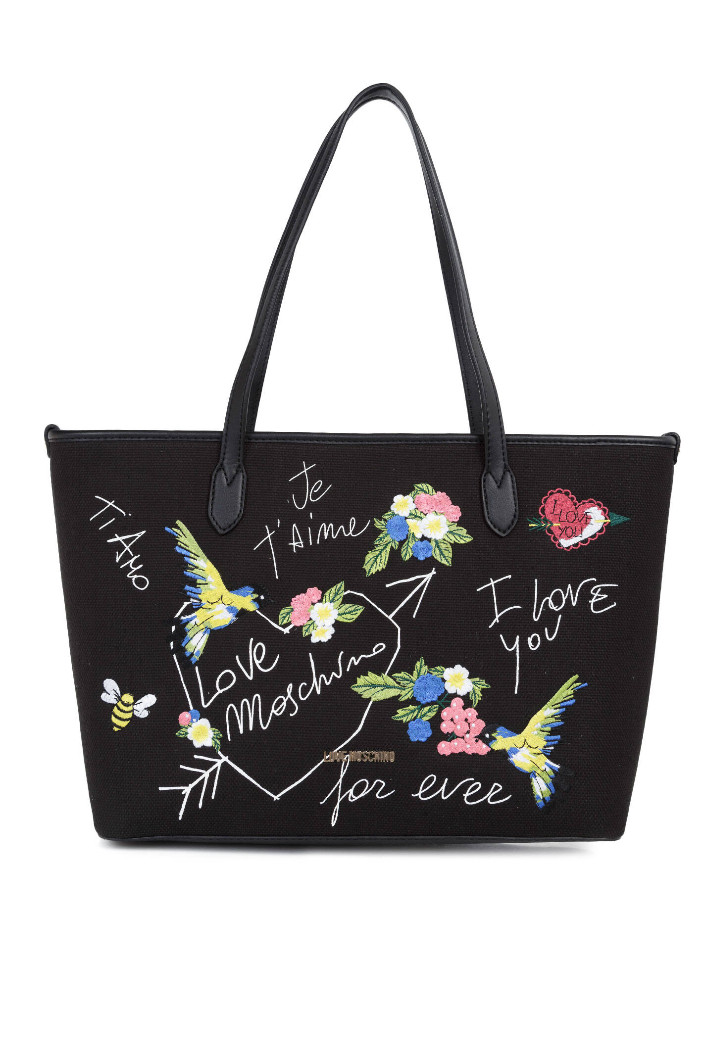 shopper bag love moschino black bags. Black Bedroom Furniture Sets. Home Design Ideas